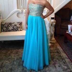 Sherri Hill 11152 Aqua Prom Dress